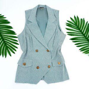 WD2 By Diamond Sleeveless Vest Size 10 Cute Polkad